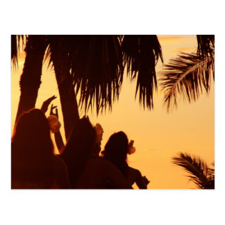 Sunset Hula Dancing Postcard