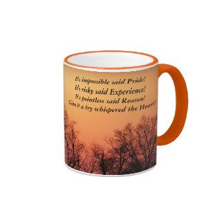 Sunset:  Impossible, Risky, Pointless, Try Ringer Mug