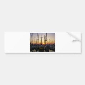Sunset In A Marina Bumper Sticker