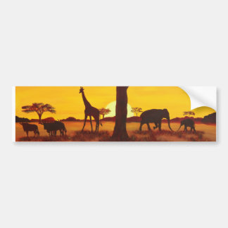 Sunset in Africa Bumper Sticker