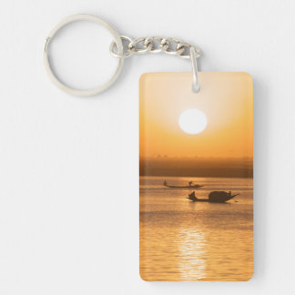 Sunset in Africa Double-Sided Rectangular Acrylic Key Ring