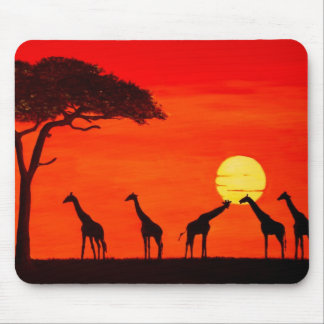 Sunset in Africa Mouse Pad