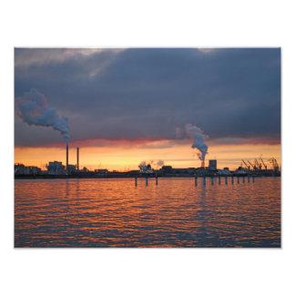 Sunset in Amsterdam-Noord Photo Art