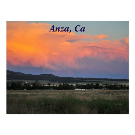 Sunset In Anza, CA Postcard