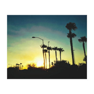 Sunset in Arizona Gallery Wrapped Canvas