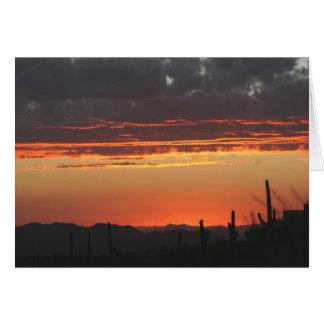 Sunset in Arizona Greeting Card