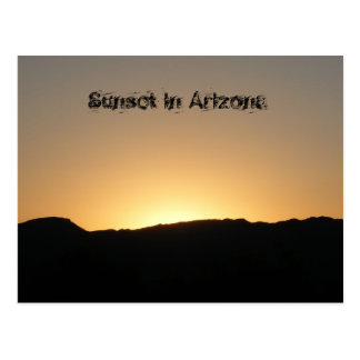 Sunset in Arizona Postcard