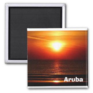 sunset in Aruba Magnet