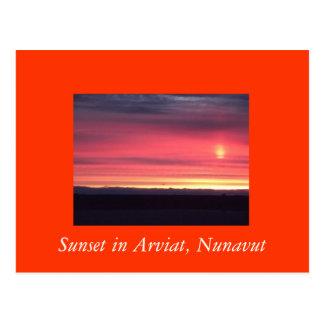 Sunset in Arviat, Nunavut Postcard