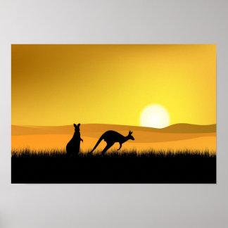 Sunset in Australia Poster