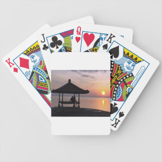 Sunset in Bali Bicycle Playing Cards