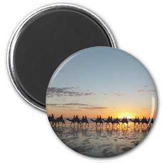 Sunset in Broome 6 Cm Round Magnet