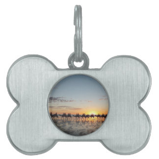 Sunset in Broome Pet Name Tags