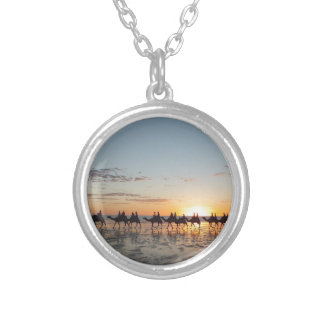 Sunset in Broome Round Pendant Necklace