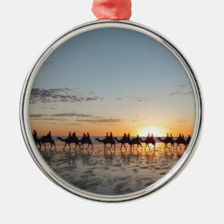 Sunset in Broome Silver-Colored Round Decoration
