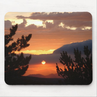 Sunset In Clouds Mouse Pads
