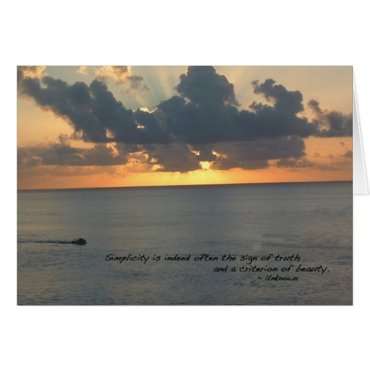 Sunset in Cozumel Card