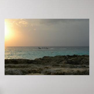 Sunset in Cozumel Poster