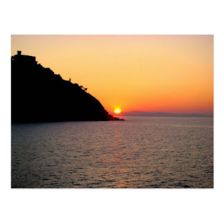 Sunset in Donostia - San Sebastian Postcard