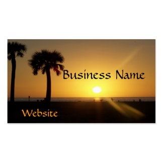 Sunset in Florida Business Card