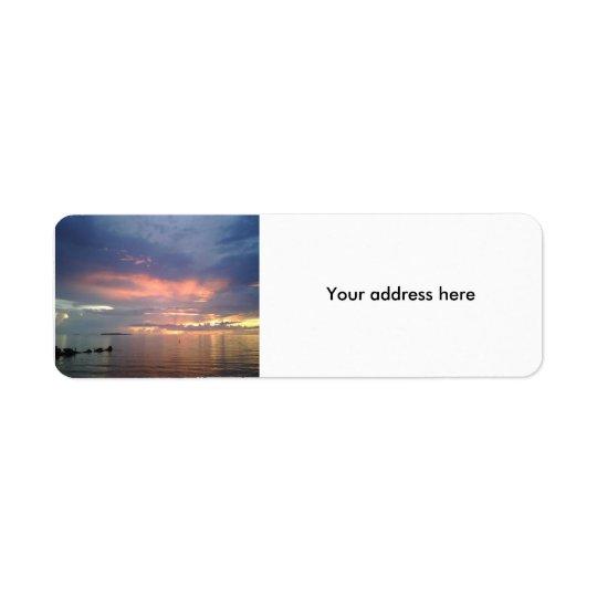 Sunset in Florida Return Address Label