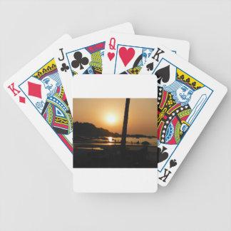 Sunset in Goa Poker Deck