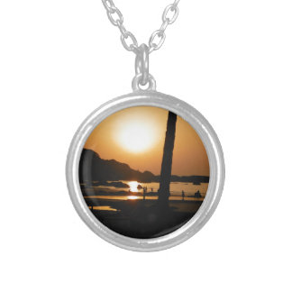 Sunset in Goa Silver Plated Necklace
