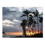 Sunset in Hawaii Post Card