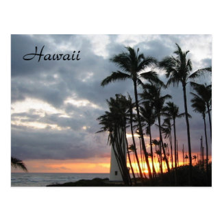 Sunset in Hawaii Post Card