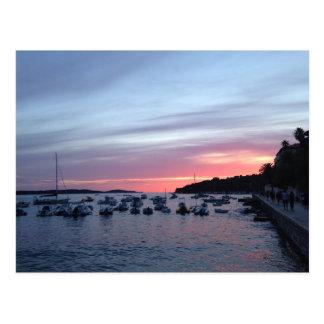 Sunset in Hvar Postcard