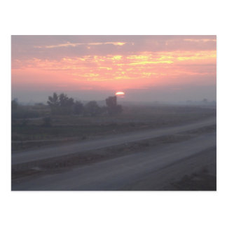 Sunset in Iraq Postcard