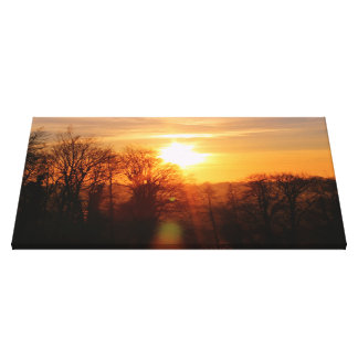 Sunset in Ireland Canvas Print