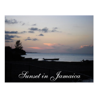 Sunset in Jamaica Postcard