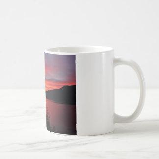 Sunset in Lake and mountain views Coffee Mug