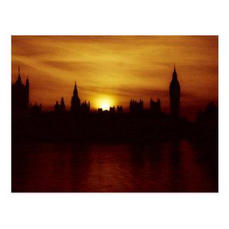 Sunset in London Postcard