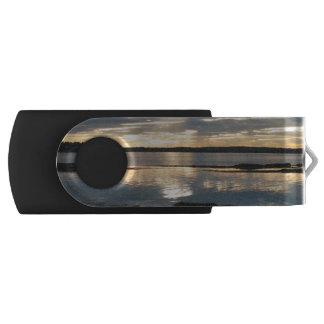 Sunset in Maine Swivel USB 2.0 Flash Drive