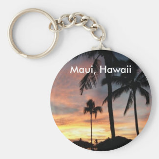 Sunset in Maui, Hawaii Key Ring