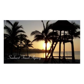 Sunset in Mexico Travel Agency Business Card