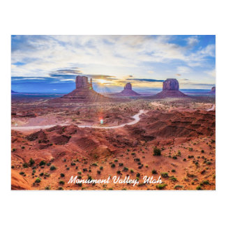 Sunset in Monument Valley, Utah Postcard