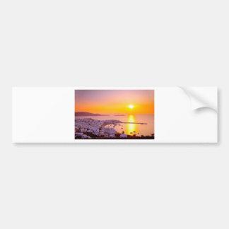 Sunset in Mykonos, Greece Bumper Sticker