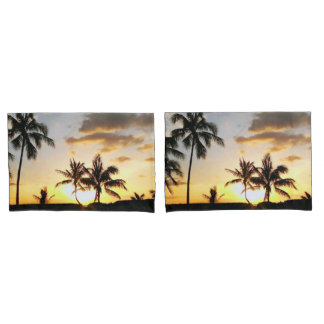 Sunset in Paradise Honolulu Hawaii Pillow Case Set