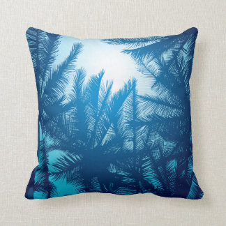 Sunset in paradise - in deep blue cushion