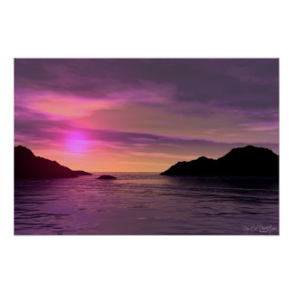 Sunset In Paradise Poster