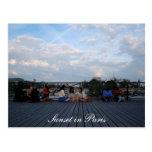 Sunset in Paris card Postcard