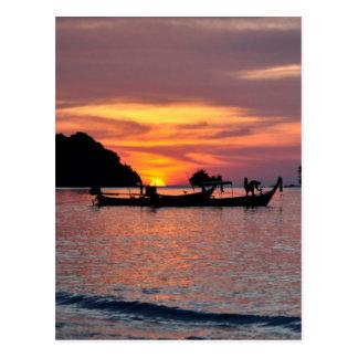 Sunset in Phuket beach Postcard