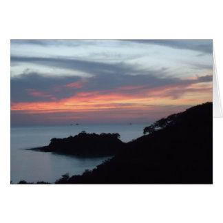 Sunset in Playa Potrero, Costa Rica Card