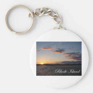 Sunset in Rhode Island Key Ring