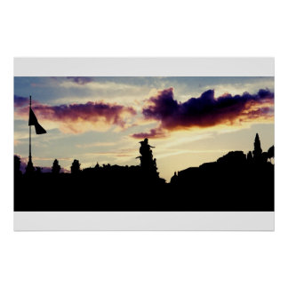 Sunset in Rome Poster