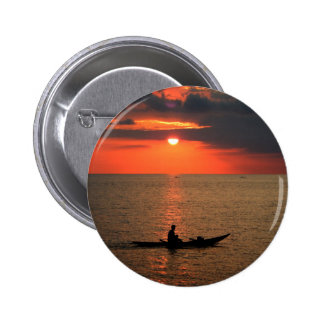 Sunset in Sausapor town 6 Cm Round Badge