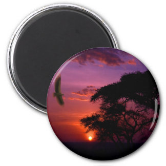 Sunset In Serengeti, Africa Magnet